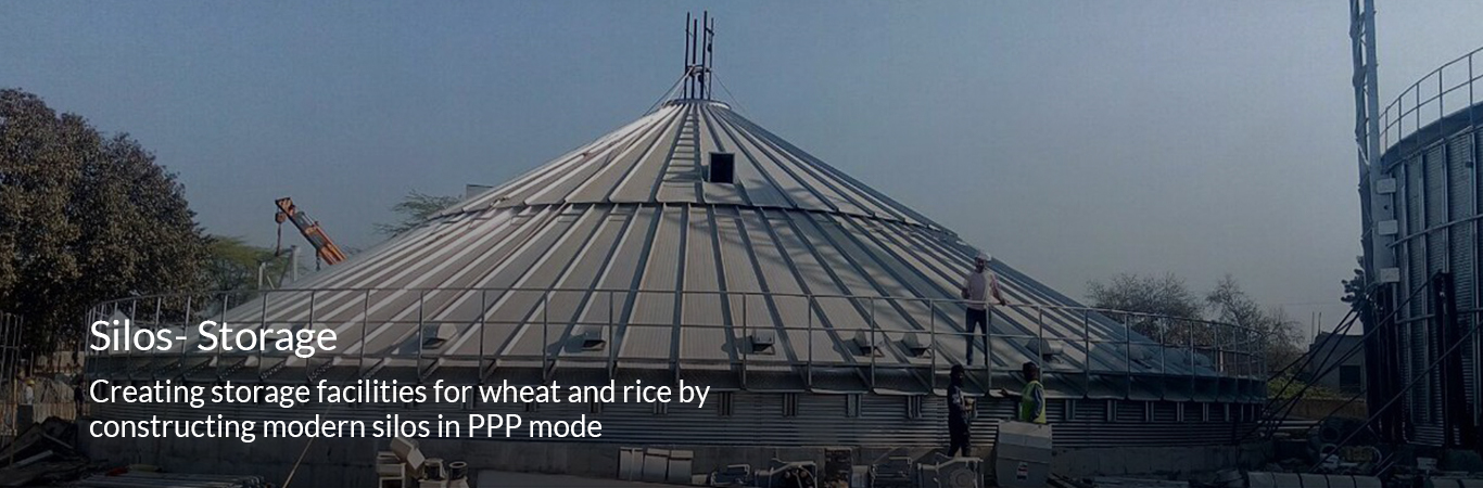 Creating storage facilities for wheat and rice by constructing modern silos in PPP mode