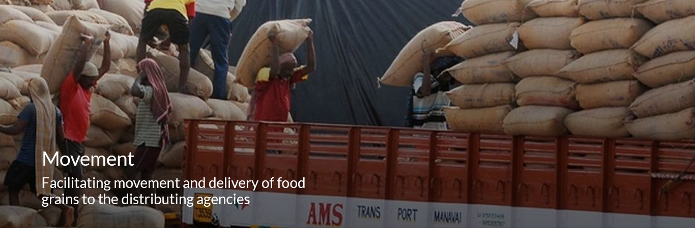 Facilitating movement and delivery of food grains to the distributing agencies