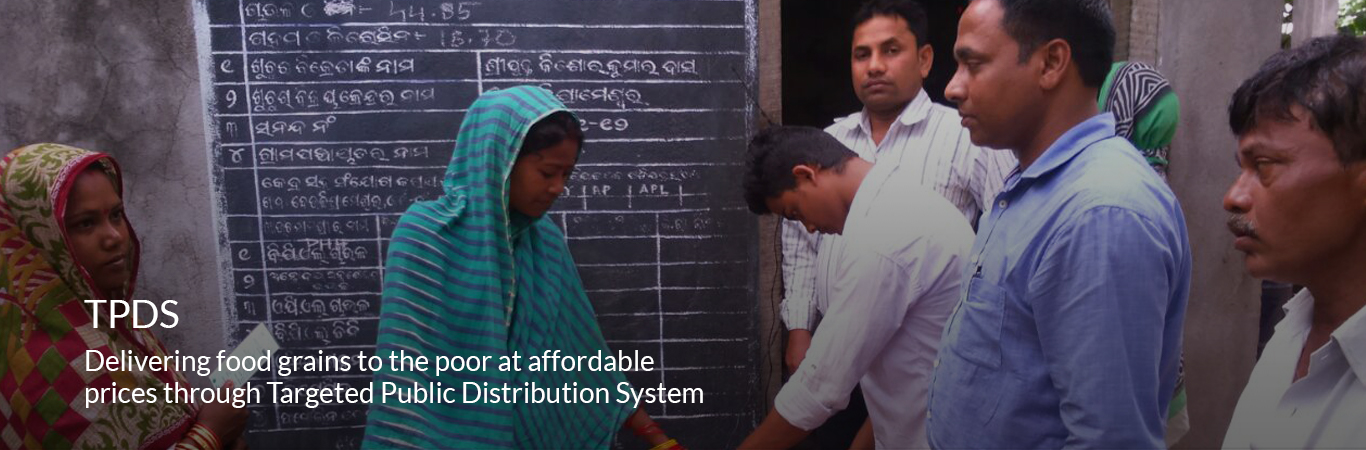 Delivering food grains to the poor at affordable prices through Targeted Public Distribution System