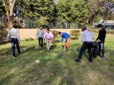 On 26.02.2021 during ongoing Swachhata Pakhwada-2021, the staff of DFPD visited a nearby park for removal of plastic, polythene and other garbage to make the area clean.